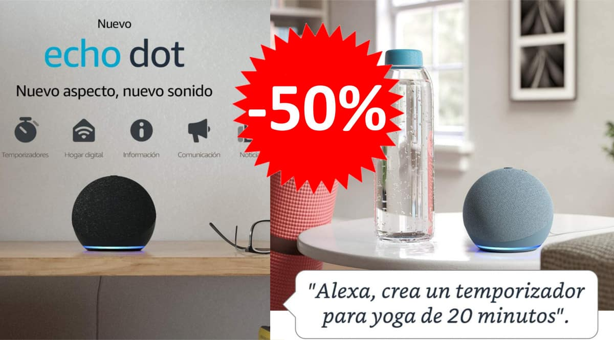 Nuevo altavoz inteligente Amazon Echo Dot.
