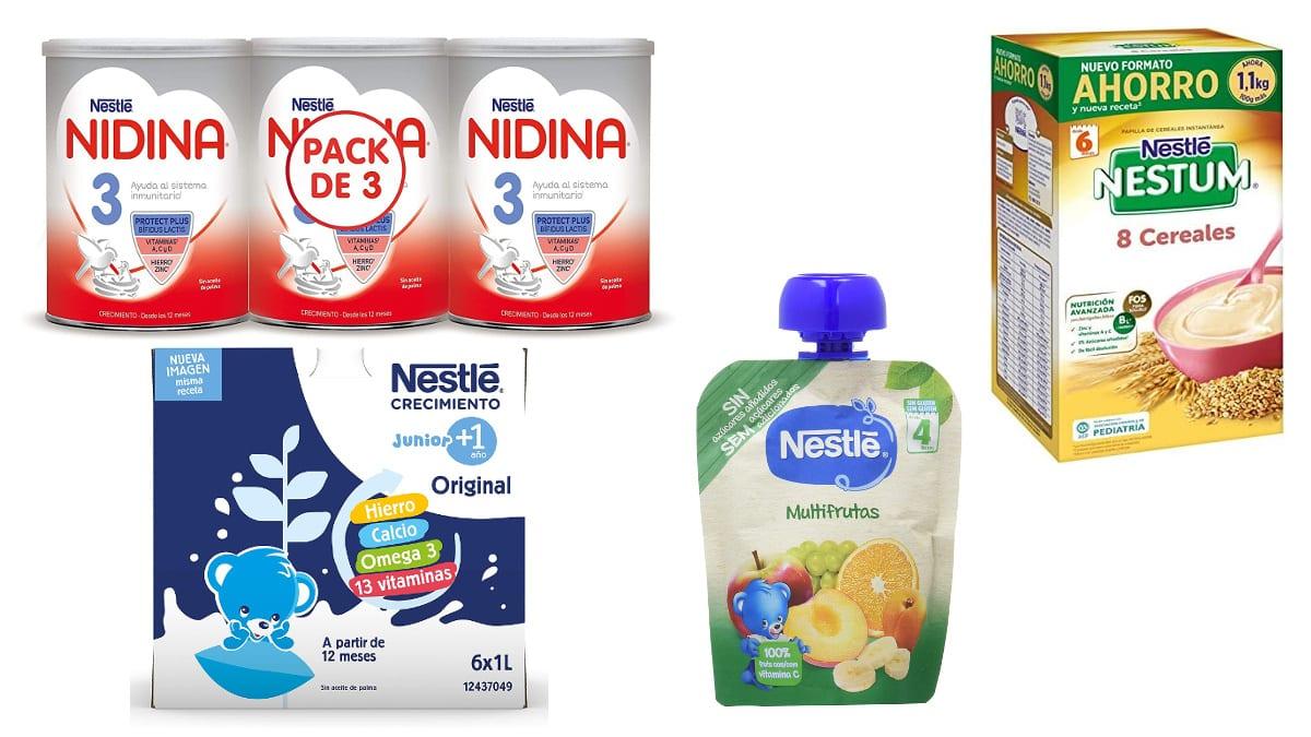 Ofertas en alimentación infantil Nestlé, comida para bebés barata, ofertas supermercado, chollo