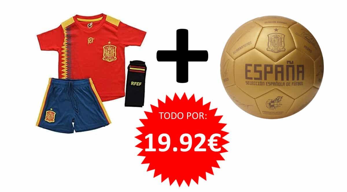 Pack Equipación Selección España para niños barato. Ofertas en regalos de Navidad, regalos de Navidad baratos, chollo