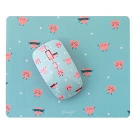 Pack de ratón y alfombrilla de corazones Mr. Wonderful, accesorios ordenador baratos, ofertas para regalar