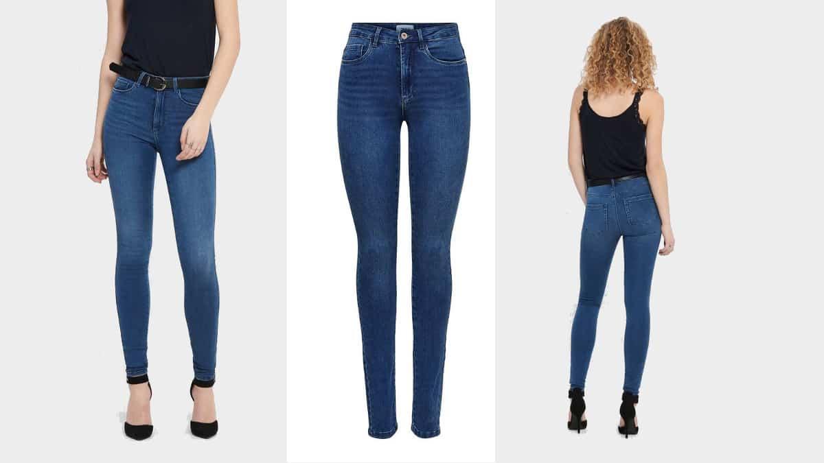 Pantalón vaquero Only Onlroyal High Waist, pantalones de marca baratos, ofertas en ropa de marca
