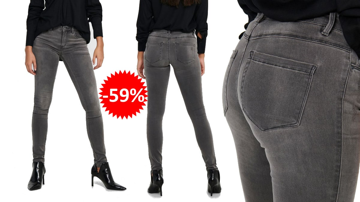 Pantalones vaqueros Only Onlroyal Reg baratos, vaqueros de marca baratos, ofertas en ropa, chollo