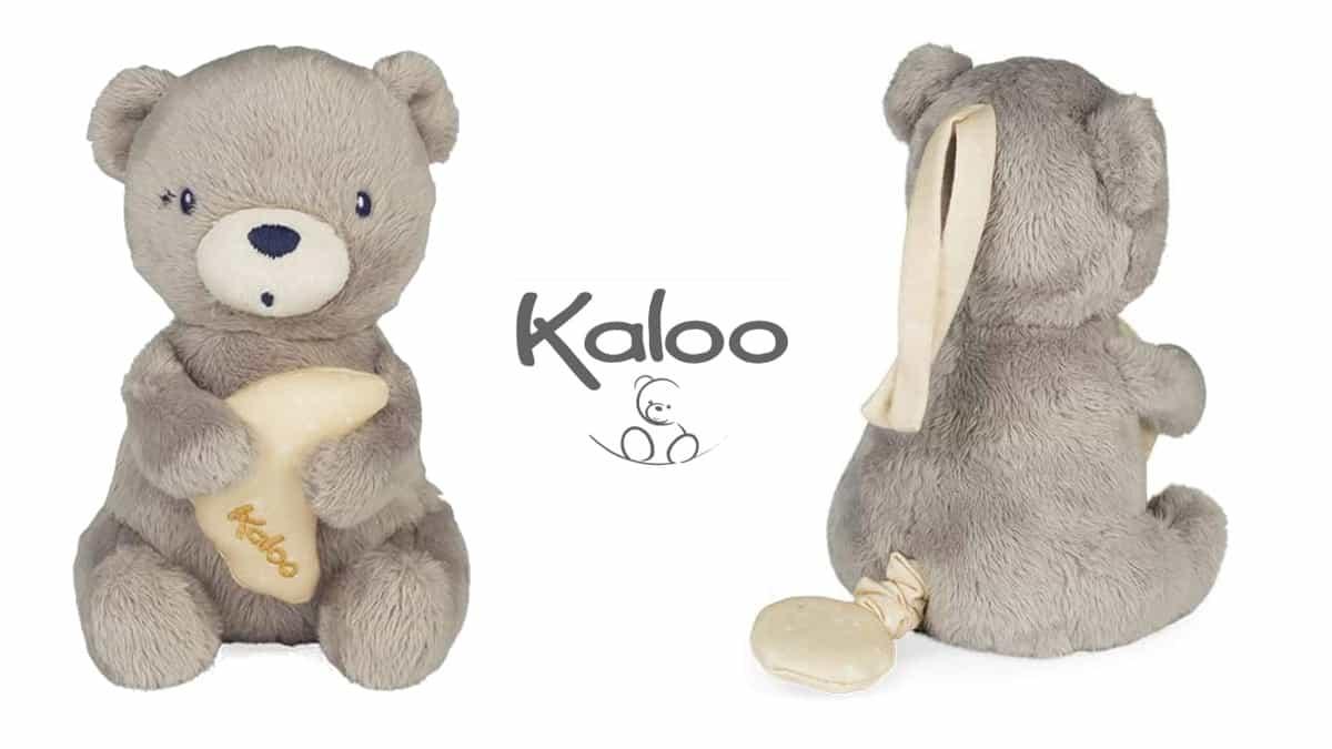 Peluche Osito musical Kaloo barato, juguetes baratos, ofertas para niños