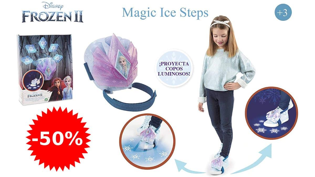 Proyector Frozen 2 Magic Ice Steps barato, juguetes baratos, ofertas para niños, chollo
