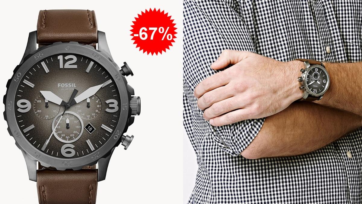 Reloj para hombre Fossil Nate barato, relojes de marca baratos, ofertas en moda, chollo