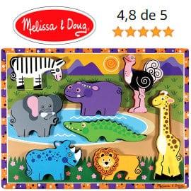 Rompecabezas de madera Melissa & Doug Safari barato, juguetes baratos, ofertas para niños