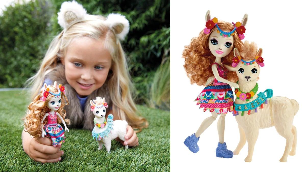 Set muñecas Enchantimals Luella Llama y Fleecy baratas, juguetes baratos, ofertas en muñecas chollo