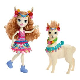 Set muñecas Enchantimals Luella Llama y Fleecy baratas, juguetes baratos, ofertas en muñecas