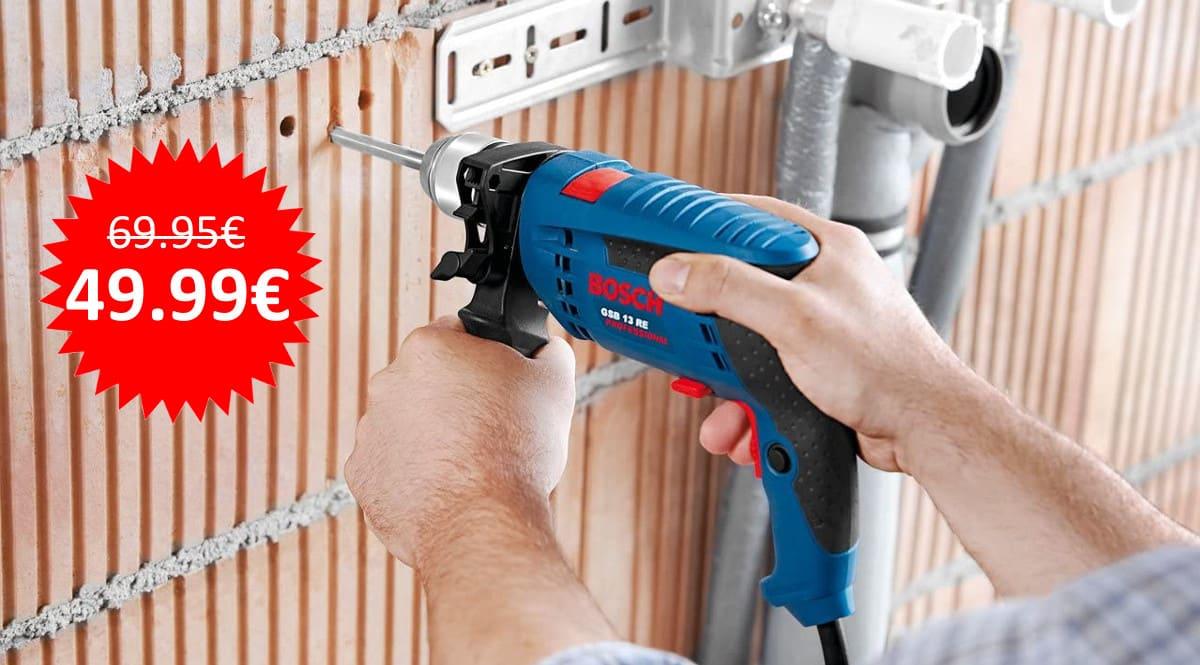 ¡Sólo hoy! Taladro percutor Bosch Professional GSB 13 RE sólo 49.99 euros.