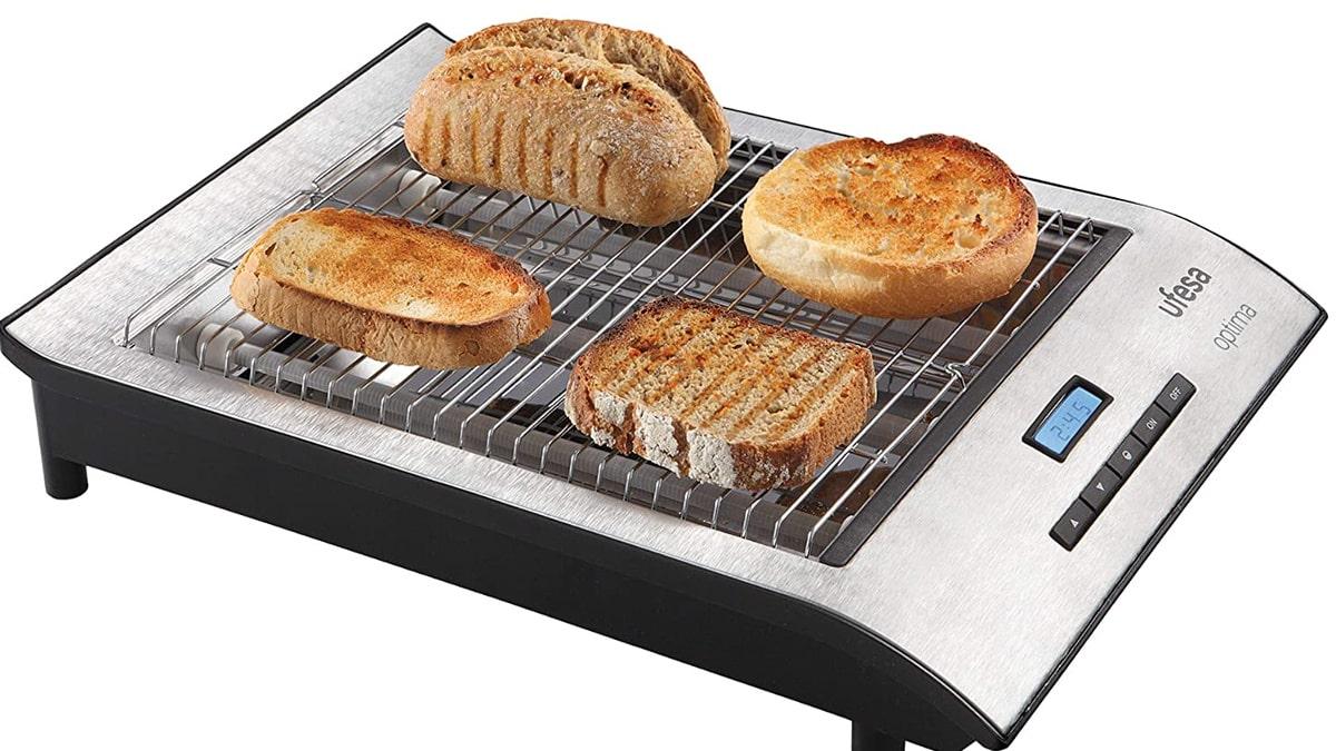 Tostador plano Ufesa TT7920 Optima barato, tostadores de marca baratos, ofertas cocina, chollo