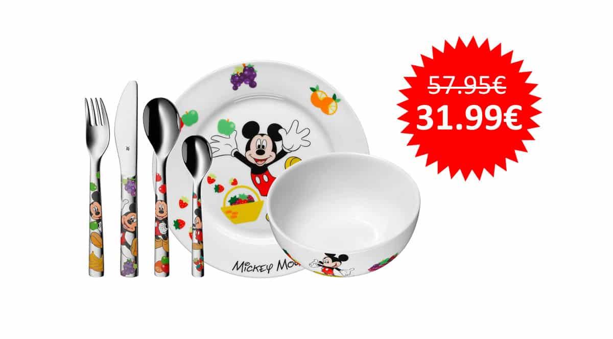 ¡¡Chollo!! Vajilla infantil de 6 piezas WMF Mickey Mouse sólo 31.99 euros.