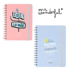 Agendas Mr. Wonderful baratas, agendas de marca baratas, ofertas oficina y papelería