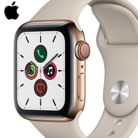 Apple Watch Series 5 de 40mm y caja de acero inoxidable en oro barato, smartwatches baratos