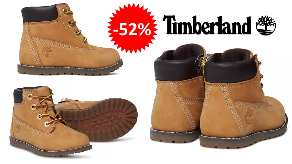 Botas Timberland Pokey Pine baratas, calzado de marca barato, ofertas para niños chollo
