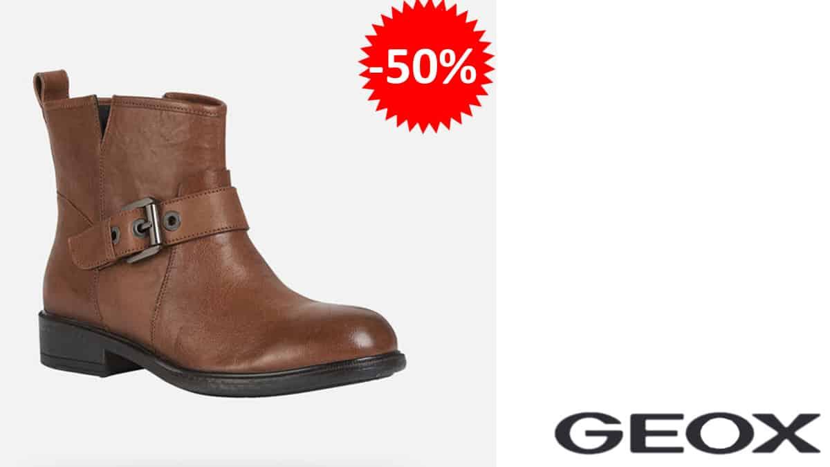 Botas de piel Geox D Catria E baratas, botas de marca baratas, ofertas en calzado, chollo