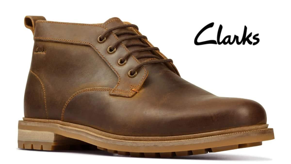 Botines Clarks Foxwell Mid baratos, calzado de marca barato, ofertas en botines chollo