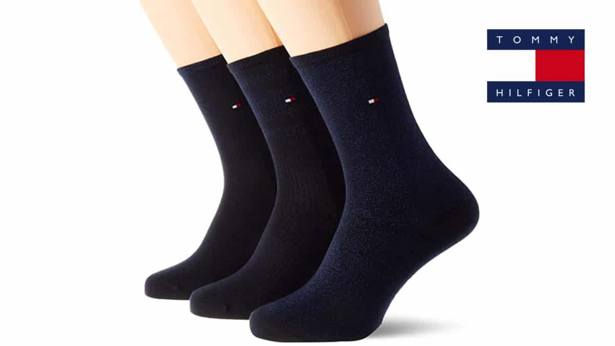 Calcetines Tommy Hilfiger baratos, calcetines de marca baratos, ofertas en ropa para mujer, chollo