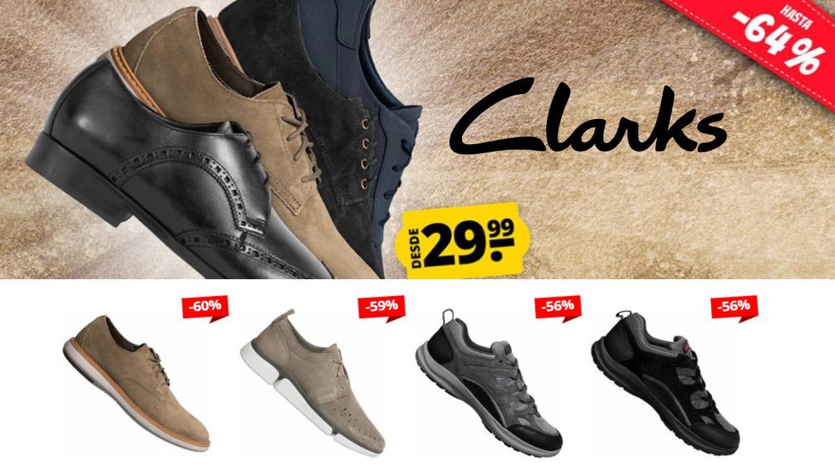 Calzado Clarks hombre barato, calzado de marca barato, ofertas en calzado chollo