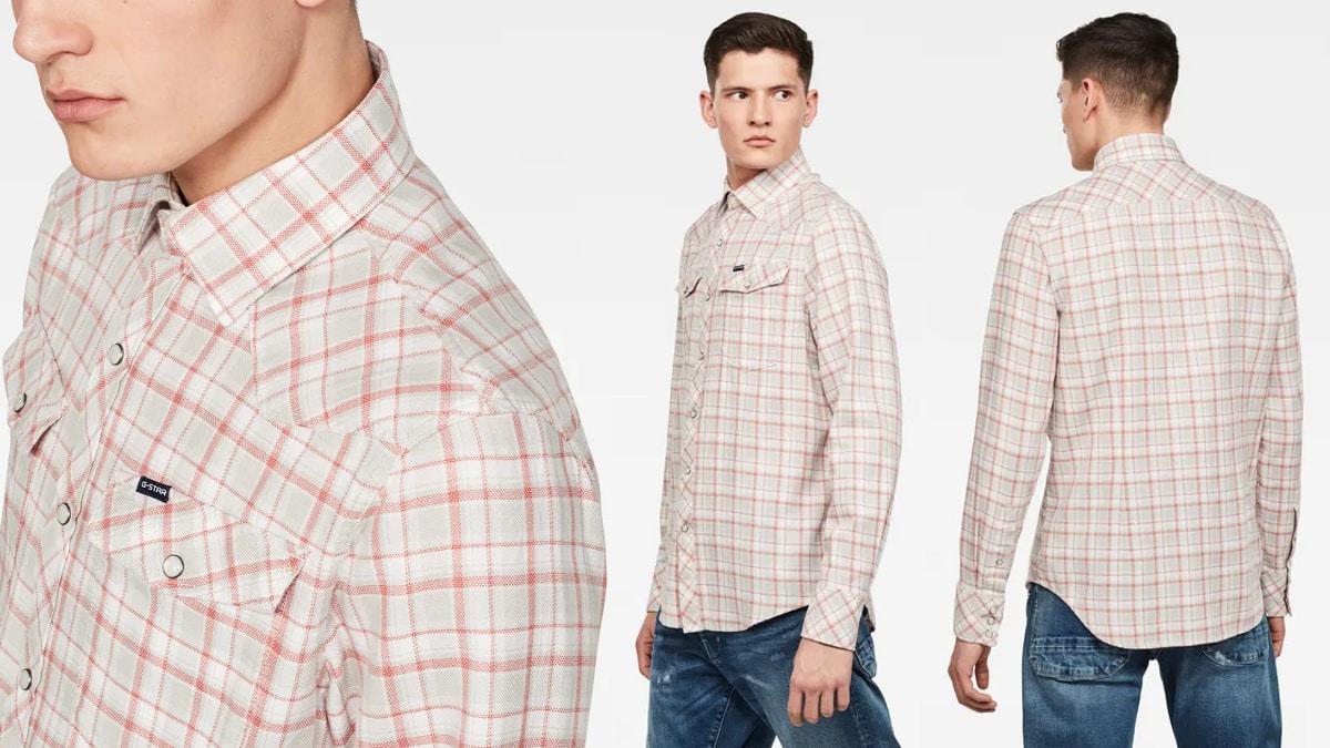Camisa G-Star Raw 3301 barata, ropa de marca barata, ofertas en camisas chollo