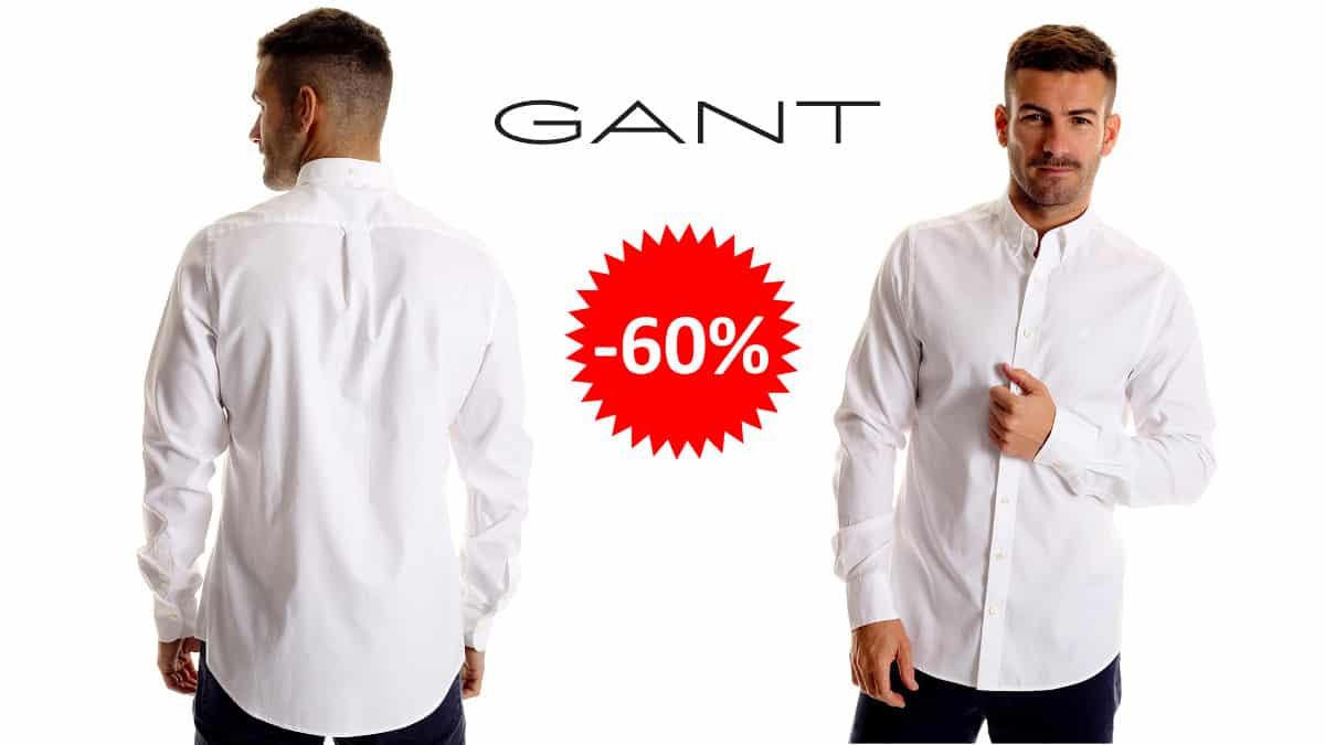 Camisa Gant Oxford Pinpoint barata, ropa de marca barata, ofertas en camisas chollo