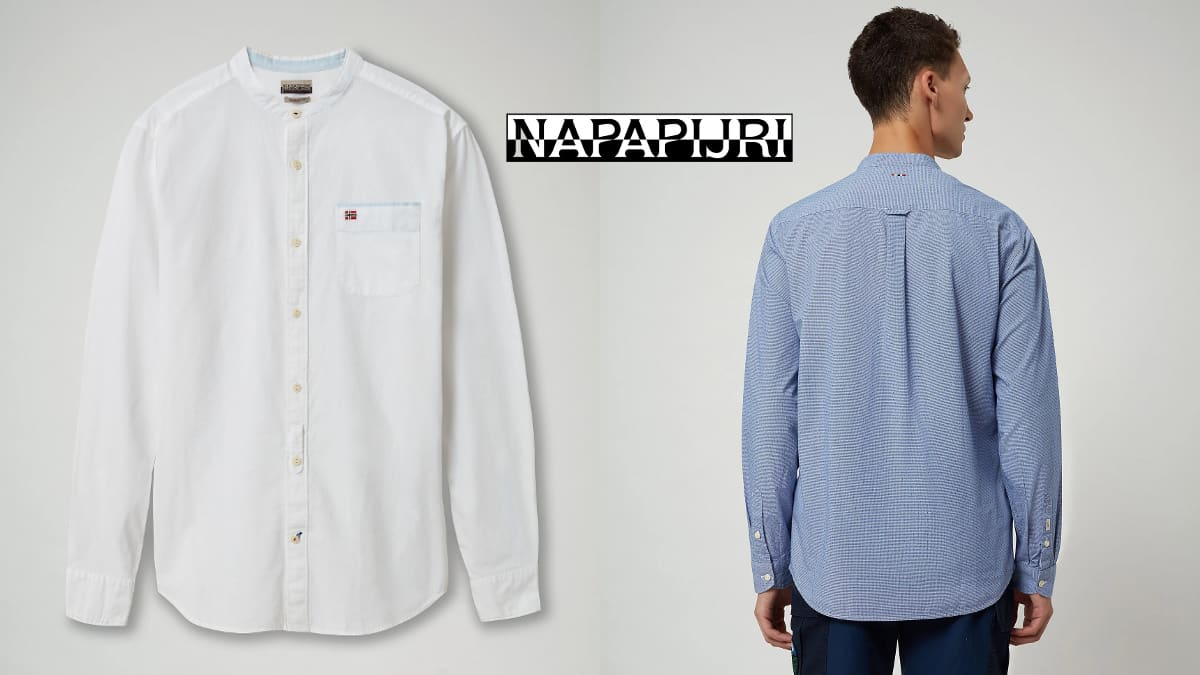 Camisa Napapijri Griante barata, ropa de marca barata, ofertas en camisas chollo