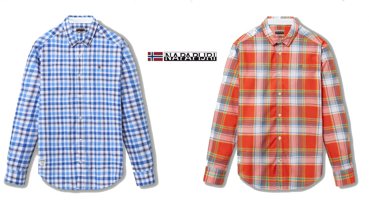Camisa Napapijri Grinnel barata, ropa de marca barata, ofertas en camisas chollo