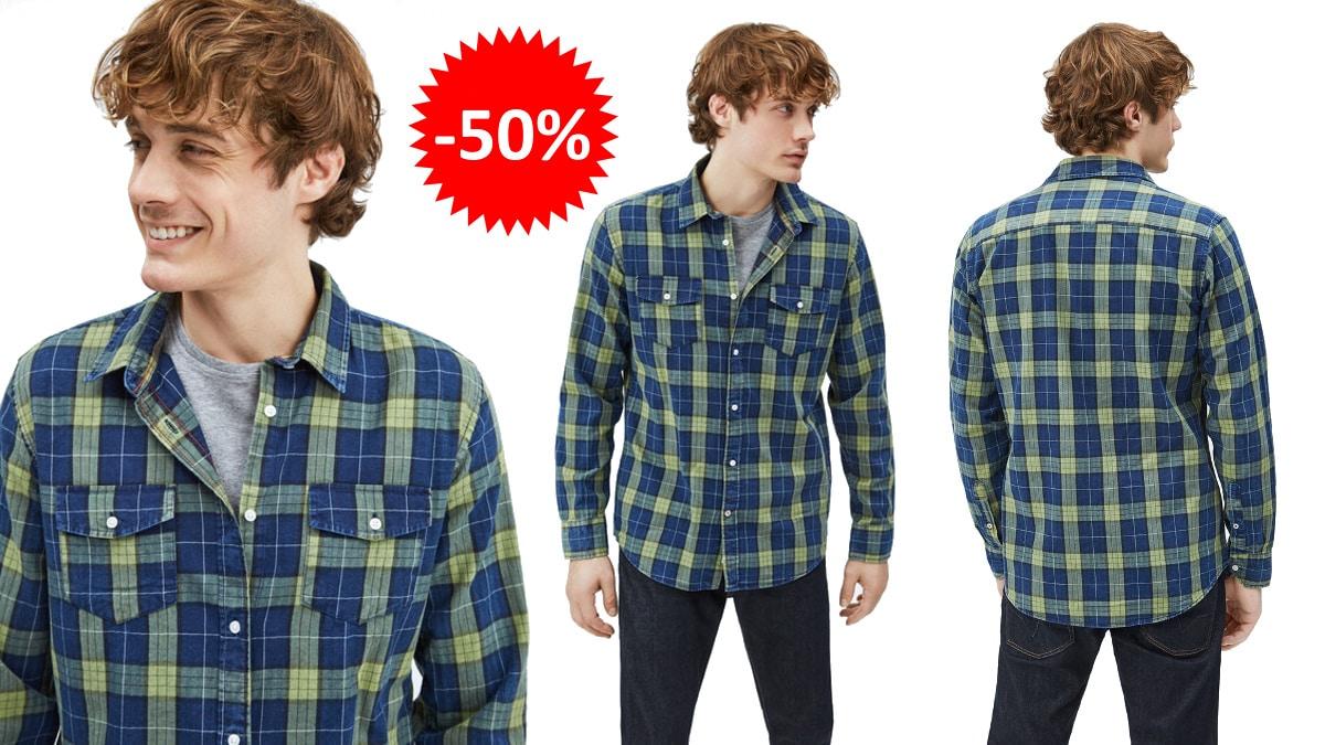 Camisa Pepe Jeans Camerton barata, ropa de marca barata, ofertas en camisas chollo
