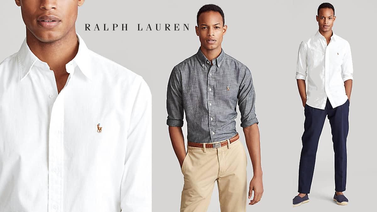 Camisa Polo Ralph Lauren de cambray barata, ropa de marca barata, ofertas en camisas chollo2
