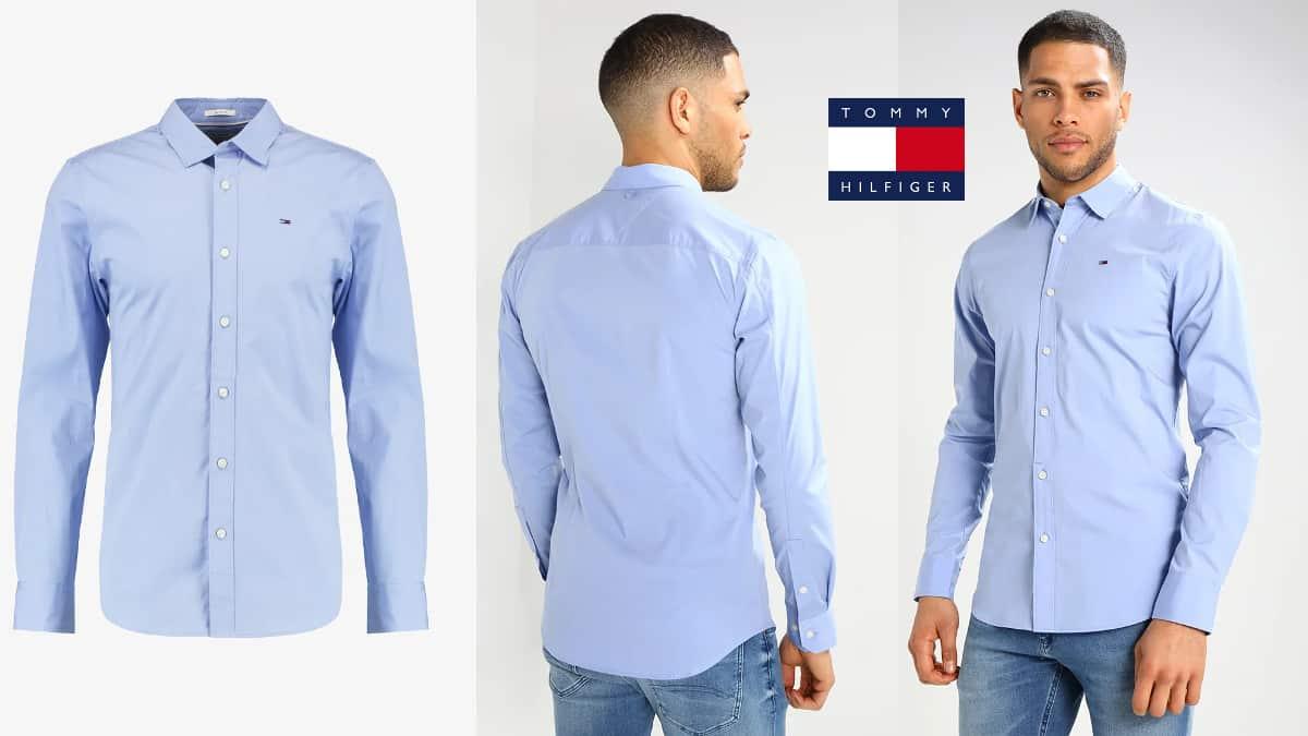 Camisa Tommy Hilfiger Original Stretch barata, ropa de marca barata, ofertas en camisas chollo