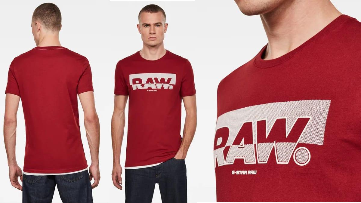 Camiseta G-Star Raw Graphic Slim barata, ropa de marca barata, ofertas en camisetas chollo