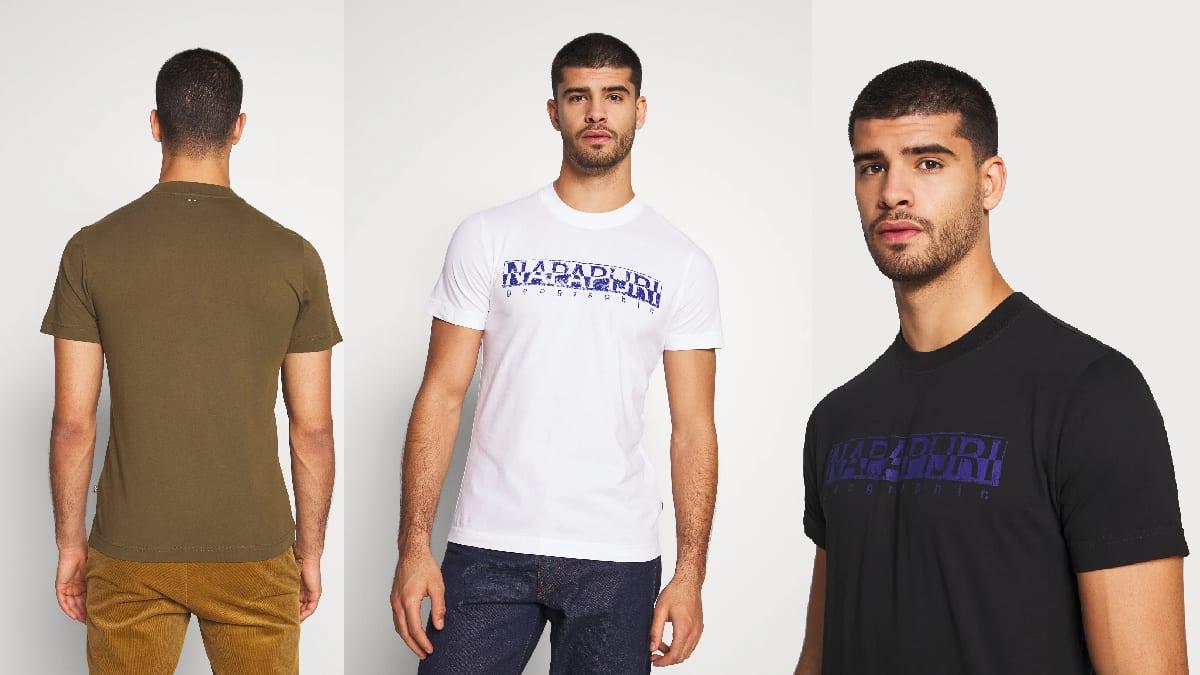 Camiseta Napapijri Solanos barata, ropa de marca barata, ofertas en camisetas chollo