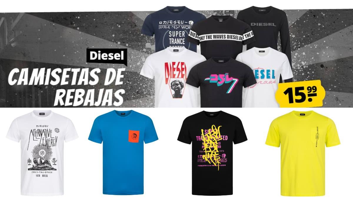 Camisetas Diesel baratas, ropa de marca barata, ofertas en camisetas chollo