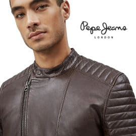 Cazadora de piel Pepe Jeans Locke barata, ropa de marca barata, ofertas en cazadoras