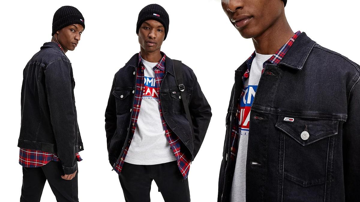 Cazadora vaquera Tommy Jeans barata, ropa de marca barata, ofertas en chaquetas chollo