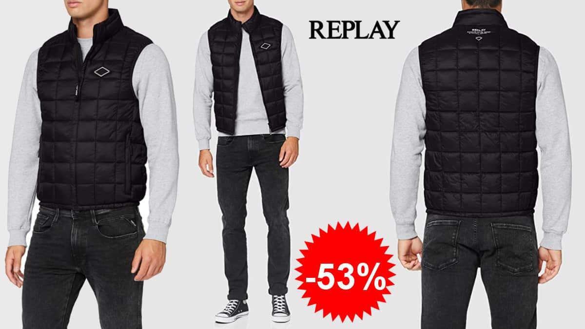 Chaleco Replay barato, chalecos de marca baratos, ofertas en ropa de marca, chollo