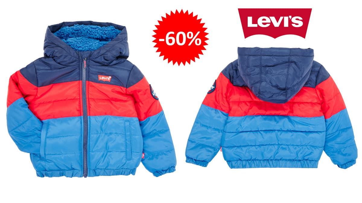Chaqueta Levi's Color Block Puffer para bebés barata, ropa de marca barata, ofertas para niños chollo