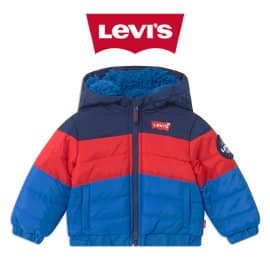 Chaqueta Levi's Color Block Puffer para bebés barata, ropa de marca barata, ofertas para niños