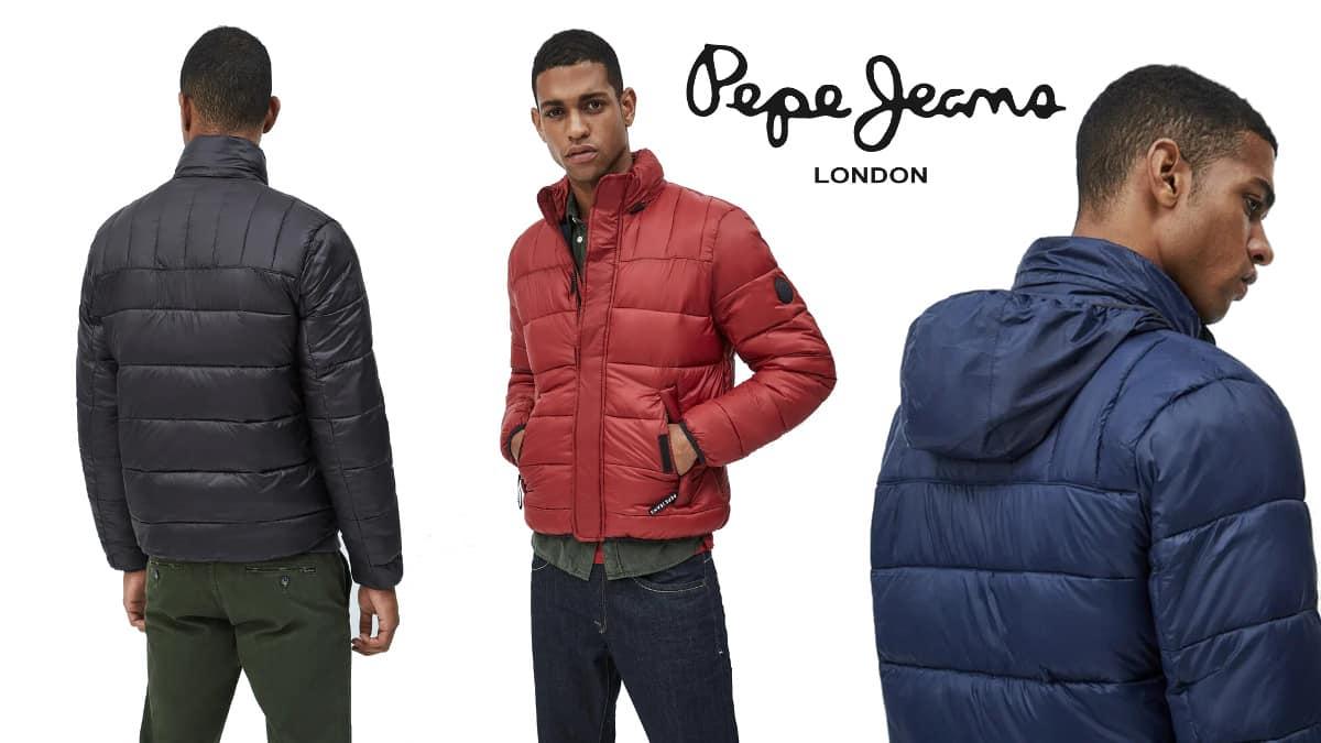 Chaqueta acolchada Pepe Jeans Coleridge barata, ropa de marca barata, ofertas en chaquetas chollo