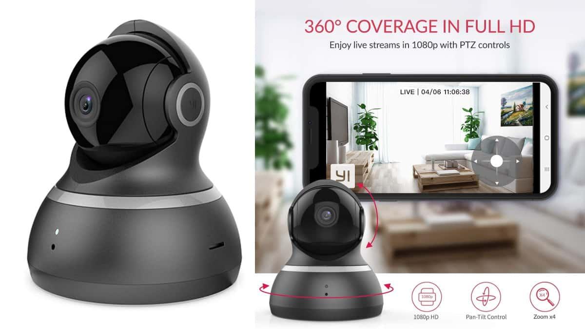 Cámara de vigilancia YI 1080p WiFi barata, cámaras de vigilancia baratas, chollo