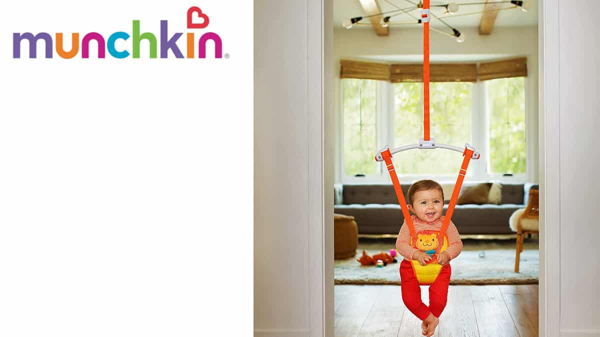 Columpio saltador Munchkin barato, juguetes baratos, ofertas para bebés, chollo