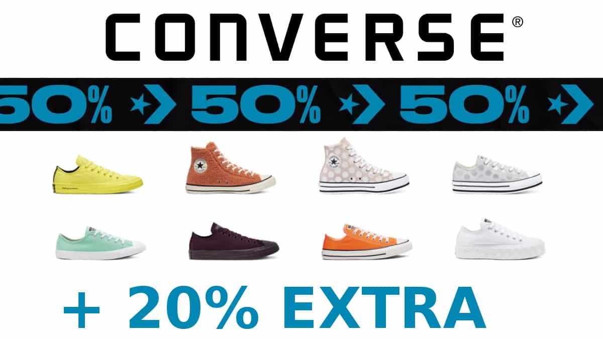 Descuento extra artículos rebajados Converse, calzado de marca barato, ofertas en ropa de marca chollo