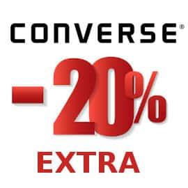 Descuento extra artículos rebajados Converse, calzado de marca barato, ofertas en ropa de marca