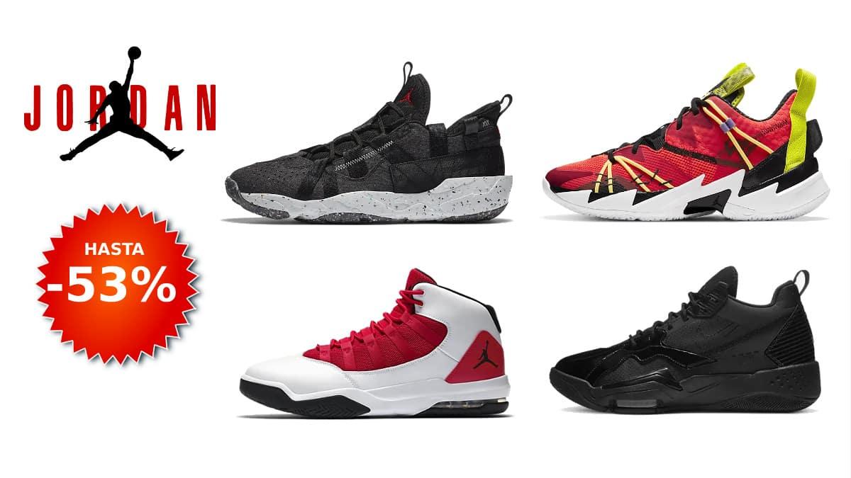 Descuento zapatillas Nike Jordan, calzado de marca barato, ofertas en zapatillas chollo