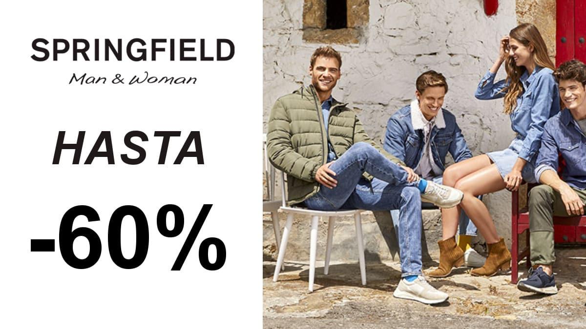 Descuentos en ropa y calzado Springfield para hombre y mujer, roap y calzado barato, ofertas en ropa de marca, chollo