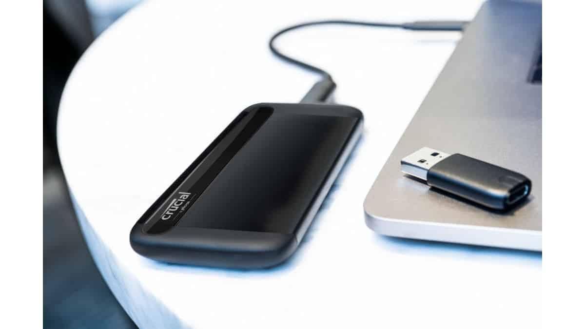 Disco SSD portátil Crucial X8 de 2TB barato, discos SSD baratos, chollo