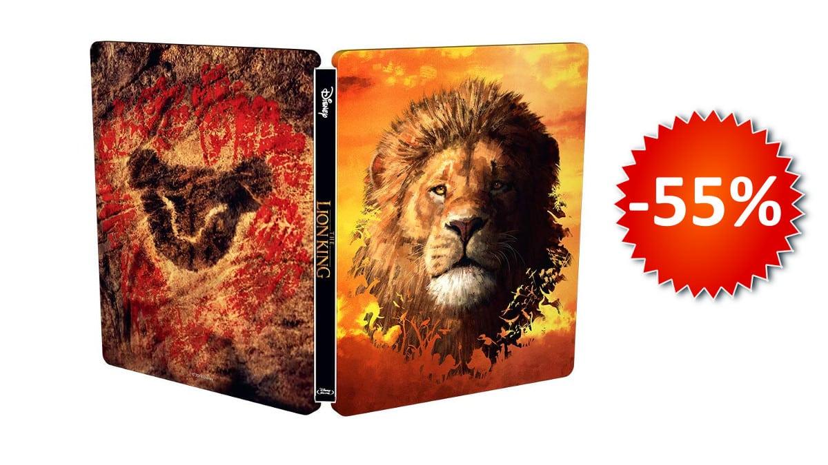 El Rey León (2019) 3D (incluye Blu-ray 2D) edición Steelbook barata, películas baratas, chollo