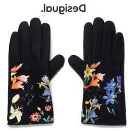 Guantes Desigual gloves flowerish baratos, guantes de marca baratos, ofertas en ropa de marca