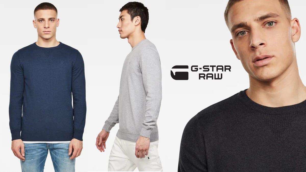 Jersey G-Star Raw de punto Premium barato, ropa de marca barata, ofertas en jerseis chollo