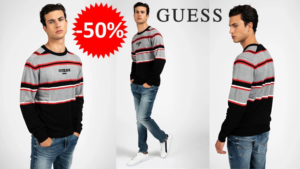 Jersey Guess de rayas barato, jerséis de marca baratos, ofertas en ropa, chollo