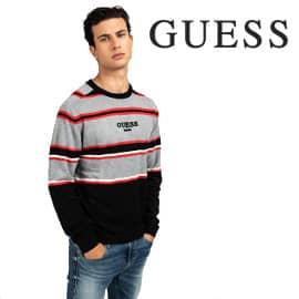 Jersey Guess de rayas barato, jerséis de marca baratos, ofertas en ropa